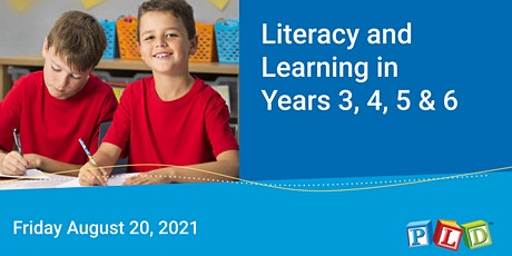 Literacy and Learning in Years 3 to 6 August 2021 tickets