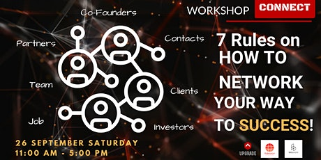 "WORKSHOP - ""7 Rules on How to Network Your Way to Success"" tickets"