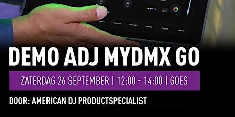 Demo American DJ myDMX Go op 26 september bij Bax Music Goes tickets