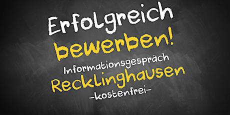 Bewerbungscoaching Online kostenfrei - Infos - AVGS Recklinghausen Tickets