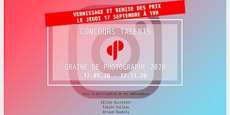 Vernissage et remise des prix concours Talents Graine de Photographe 2020 billets