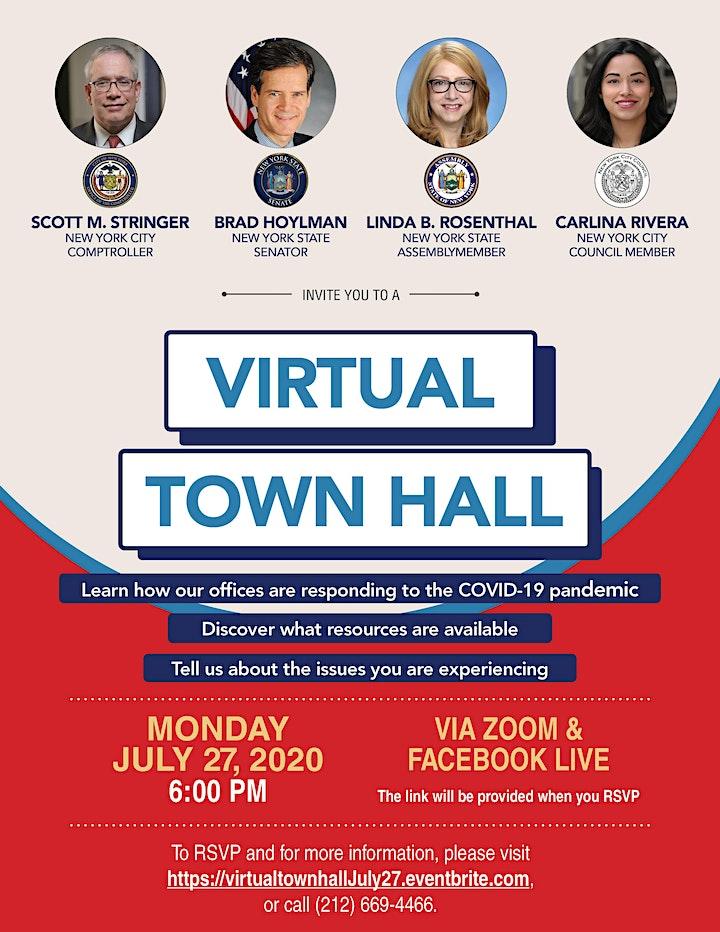 Virtual Townhall with S. Stringer,  B. Hoylman, L. Rosenthal, and C. Rivera image