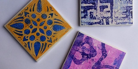 Coaster Creations with Gel Prints Workshop tickets