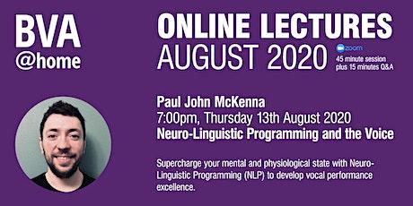 BVA@home Online Lectures August 2020: Paul John McKenna tickets