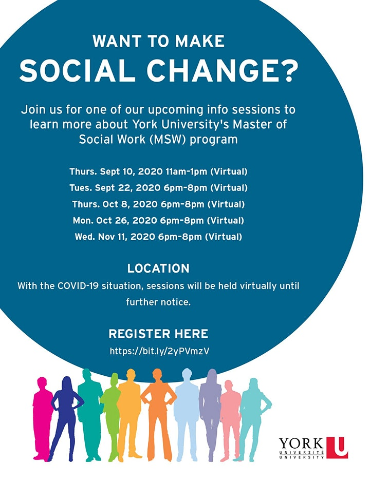 York University Master of Social Work Information Sessions image