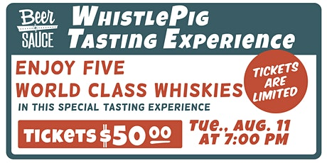 WhistlePig Whiskey Tasting Experience tickets