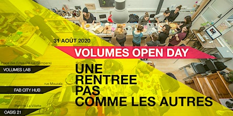 Open day VOLUMES / Portes Ouvertes tickets