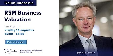 Online informatiesessie RSM Business Valuation - 14 augustus 2020 tickets