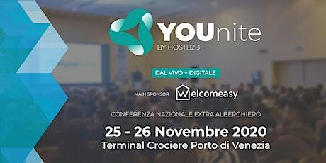 Younite, Conferenza Italiana del settore Extra Alberghiero biglietti