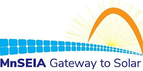 2020 MnSEIA Gateway to Solar Registration tickets