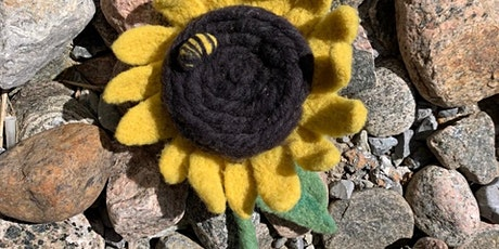 ONLINE Sunflower Needle Felting Workshop tickets