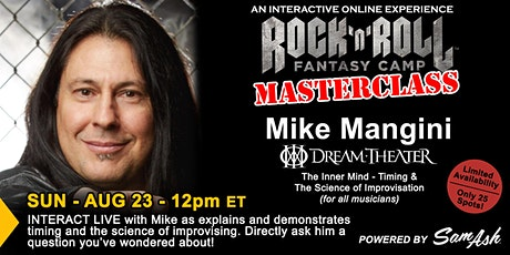 Drumming Masterclass with Mike Mangini tickets