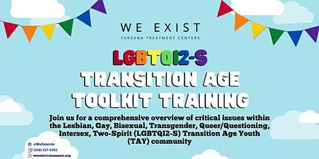 We Exist LGBTQI2-S Toolkit Training West LA September 2020 tickets