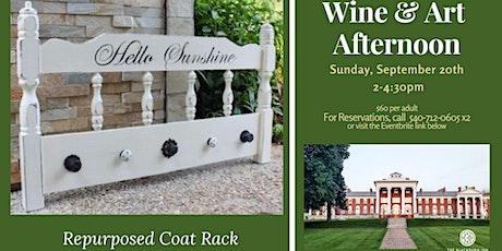 Wine & Art in the Penthouse - Repurposed Coat Rack tickets