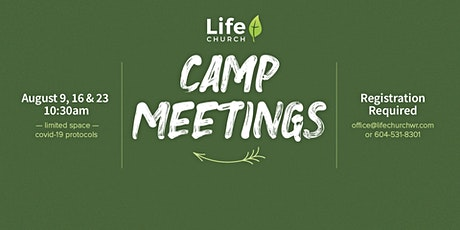 Camp Meeting tickets