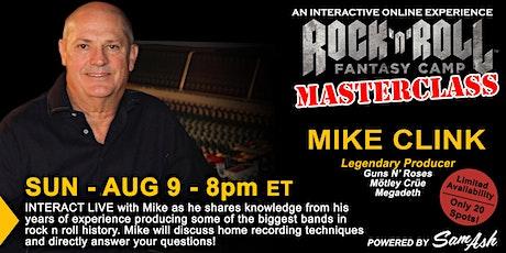 Masterclass with Legendary Producer Mike Clink biglietti
