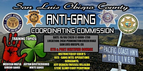 SLO County Anti-Gang Coordinating Commission Gang Training tickets