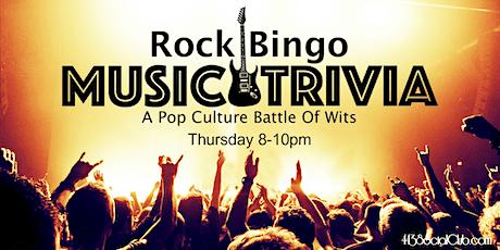 Rock Bingo Music Trivia tickets