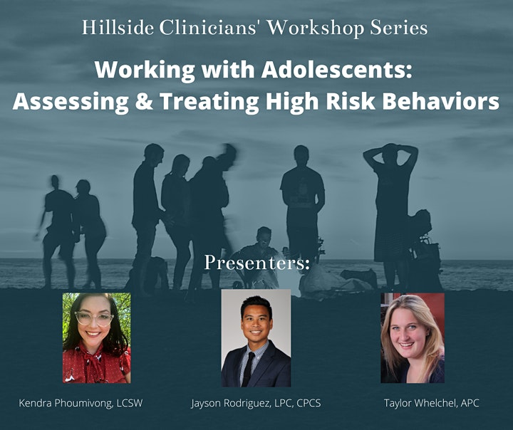 """Working with Adolescents: Assessing & Treating """"High Risk"""" Teens image"""