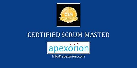 CSM ONLINE (Certified Scrum Master) - September 10-11, Dublin, CA tickets