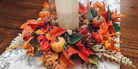 "Kraft Night: 10"" Fall Faux Wreath Centerpiece tickets"