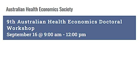 Australian Health Economics Society Doctoral (AHED) Workshop tickets