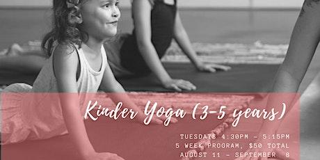 Term 3 Kinder Yoga (3-5 Years) tickets