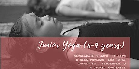 Term 3 Junior Yoga (6-9 years) tickets