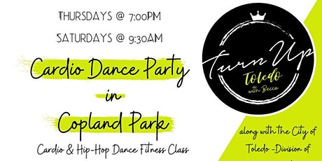 Cardio Dance Party in Copland Park with Turn Up Toledo Dance Fitness tickets