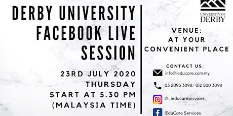 FACEBOOK LIVE WITH DERBY UNIVERSITY tickets