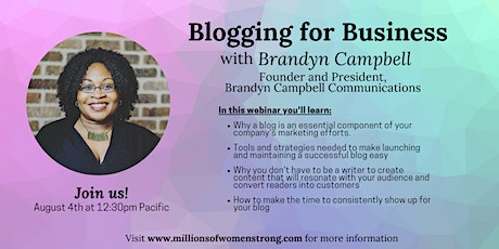Blogging for Business with Brandyn Campbell tickets