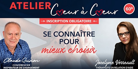 St-Jérôme , Atelier: Se connaître pour mieux choisir. 60$ billets