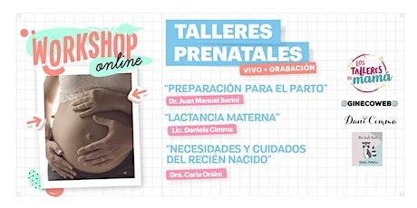 Talleres PRENATALES AGOSTO: Preparación para el parto+ Lactancia + Cuidados boletos