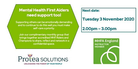 Supporting Mental Health First Aiders and Champions tickets