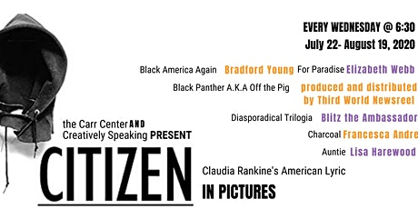 Citizen: In Pictures,  5 part film webinar based on Claudia Rankine's work tickets