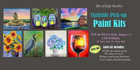Curbside PICK-UP Paint Kits: July and August paintings tickets