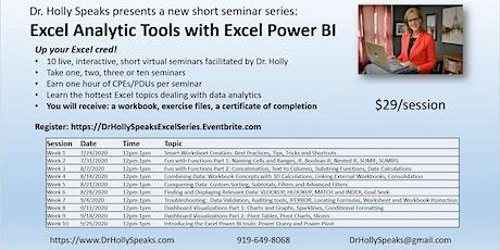 Virtual Excel Data Analytics Series Week 10: Excel Power BI tickets
