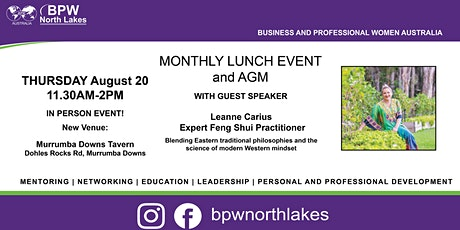 BPW North Lakes August Lunch and AGM tickets