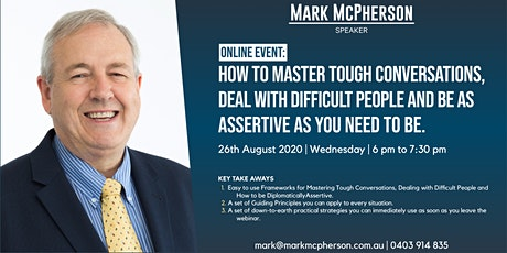 How to Master Tough Conversations and Deal with Difficult People tickets