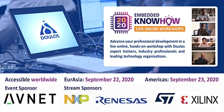 Embedded KnowHow 2020 Live Online Workshops - EurAsia tickets