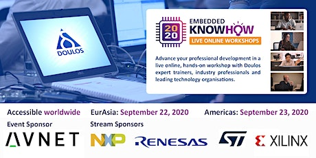 Embedded KnowHow 2020 Live Online Workshops - Americas tickets