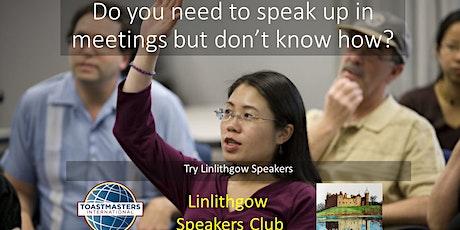 Speaking and Leadership at Linlithgow Speakers billets