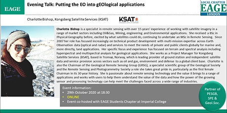 EAGE London: Putting the EO into gEOlogical applications tickets