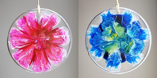 Resin and Alcohol Ink Flowers Workshop