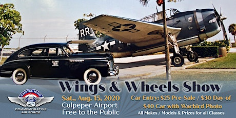 Culpeper Wings & Wheels Show 2020 tickets
