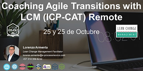 Coaching Agile Transitions with LCM (ICP-CAT) Remote boletos