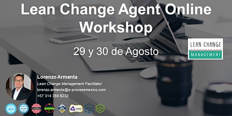 Lean Change Agent Online Workshop entradas