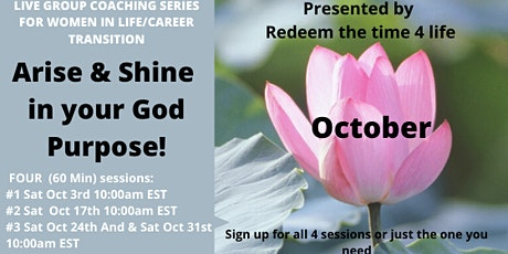 Arise & Shine in your God purpose (October 2020) tickets