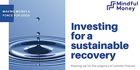 Investing for a Sustainable Recovery tickets