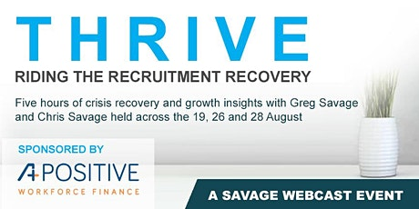 THRIVE - Riding the Recruitment Recovery tickets